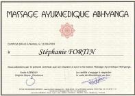 Certificat ayurvedique