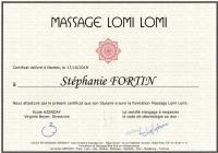 Certificat lomi lomi