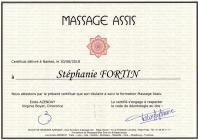 Certificat massage assis
