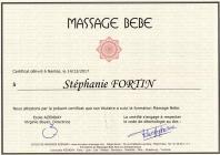Certificat massage bebe