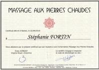 Certificat pierres chaudes