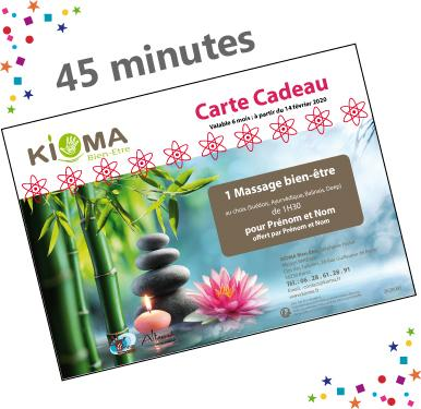 Bon cadeau massage 45 minutest