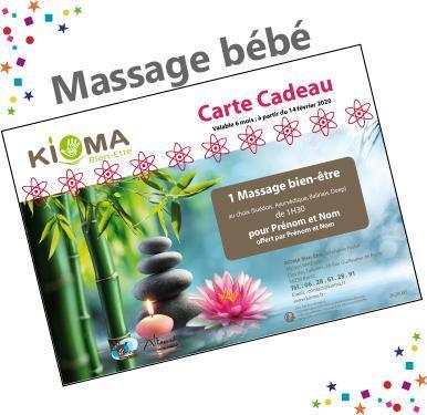 Bon cadeau massage bebe
