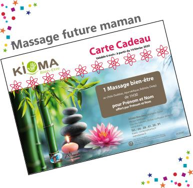 Bon cadeau massage future maman